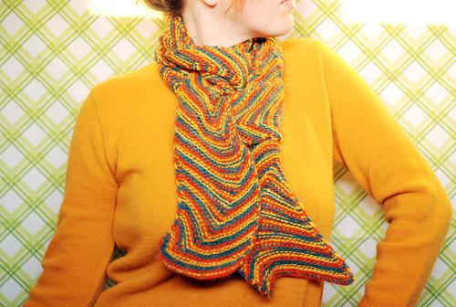 waving chevron scarf
