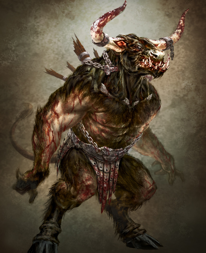 Image result for mythical creature minotaur