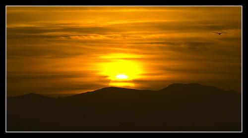 sunset orange sun mountains canon eos seagull 1000d