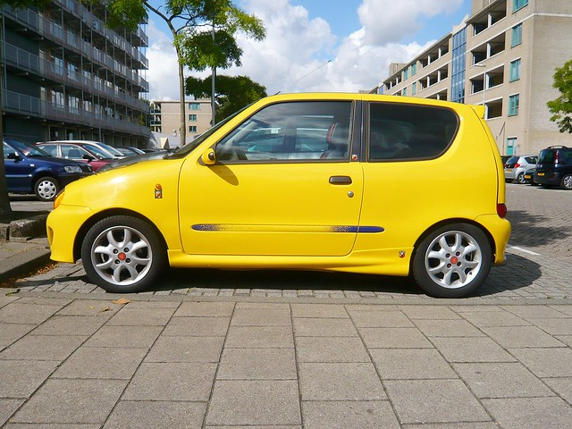 yellow fiat seicento sporting 1999 flickr photo sharing. Black Bedroom Furniture Sets. Home Design Ideas