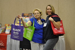 Frances Lee Oneal and Cathy Jo Nelson at the Summer Institute in June 2012