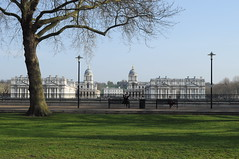 Taking in the view of Maritime Greenwich from Island Gardens