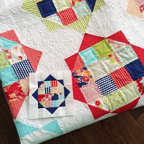 I think I want a whole quilt made out of these tiny blocks. Too crazy?
