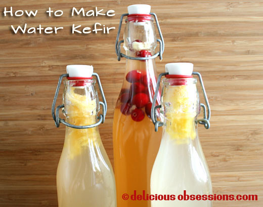 How To Make Water Kefir Recipe -- Fermented foods taste amazing and are fabulous for your health! Try these great ideas to get your inspired! A great new years resolution!