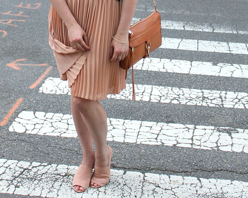 peach skirt detail