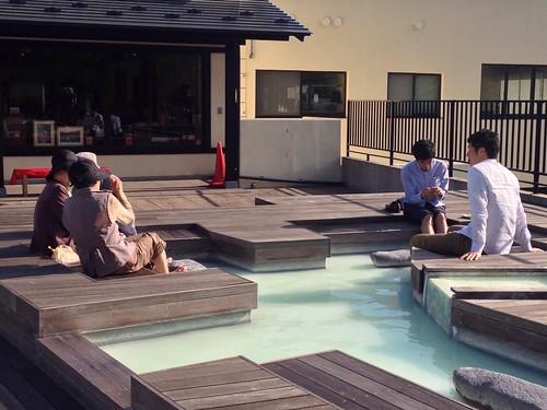 蔵王温泉 「新左衛門の湯」の足湯