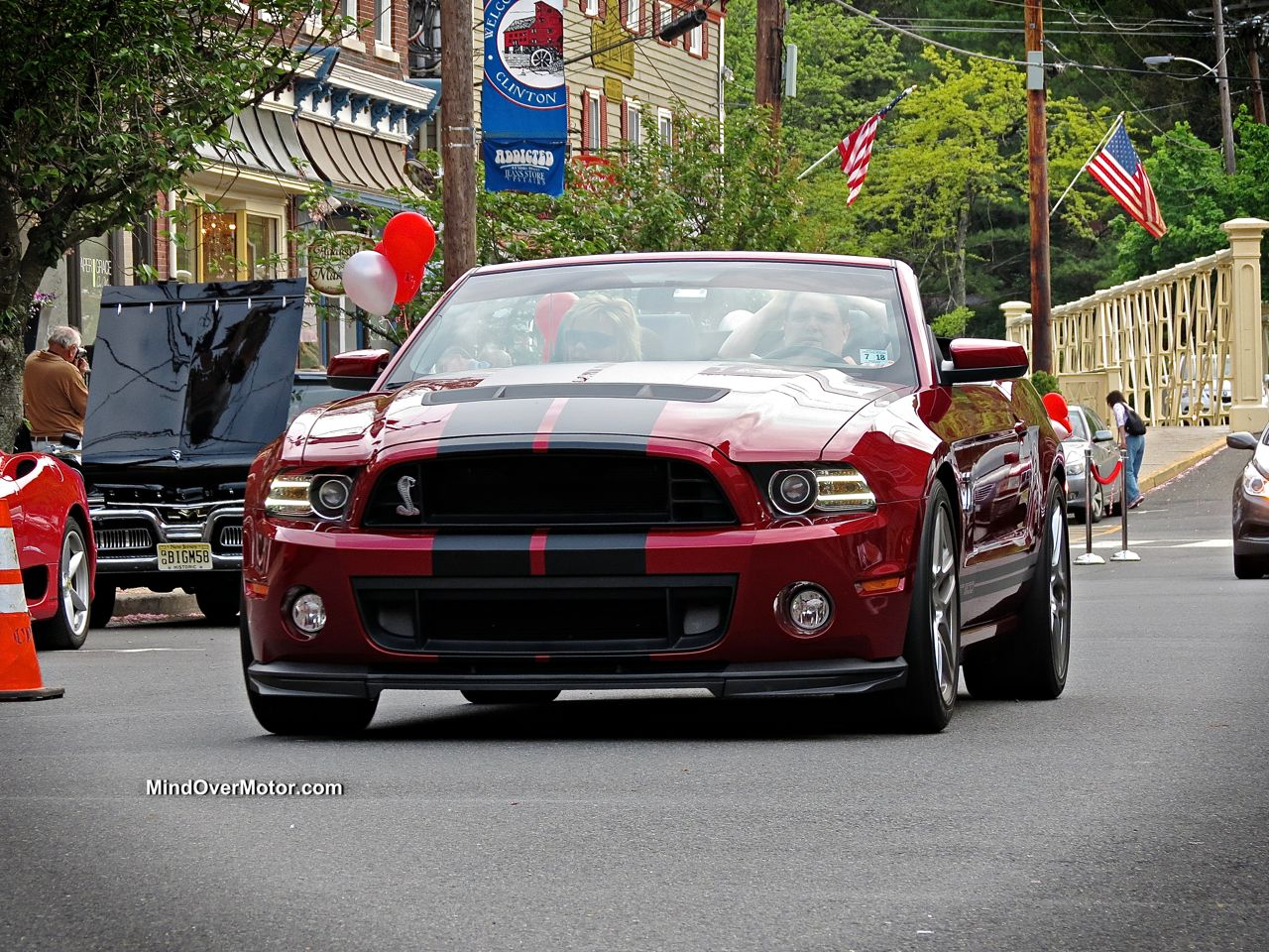 Burgundy Shelby Mustang GT500 Convertible