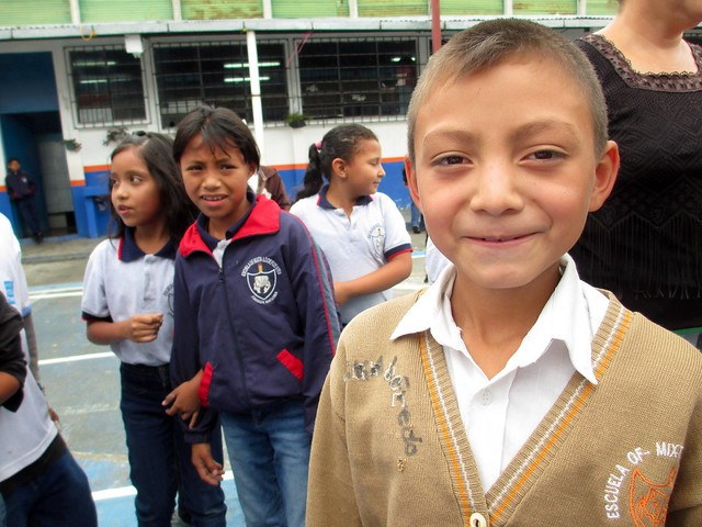 Curious School Boy During Soap Distribution Trip to Guatemala, May 2014