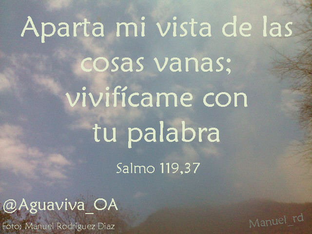 Aparta mi vista de las cosas vanas (Salmo 119,37)