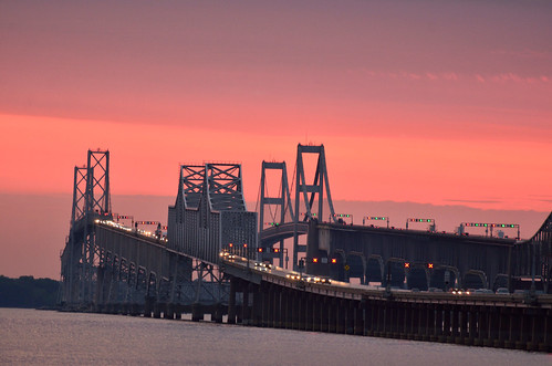 Chesapeake Bay Bridge at Sunset