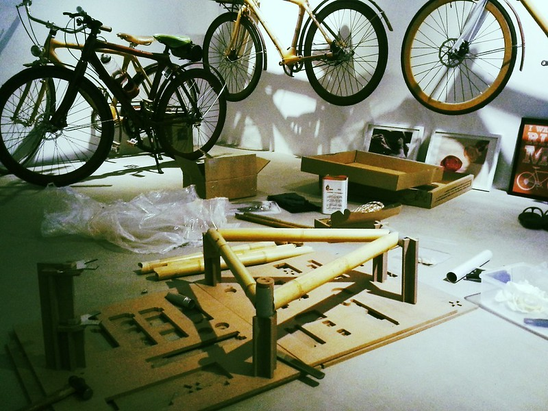 Figuring out how to build a bamboo bike frame.