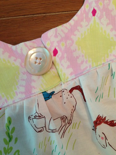 Oliver + S ice cream top Sarah Jane wee wander fabric