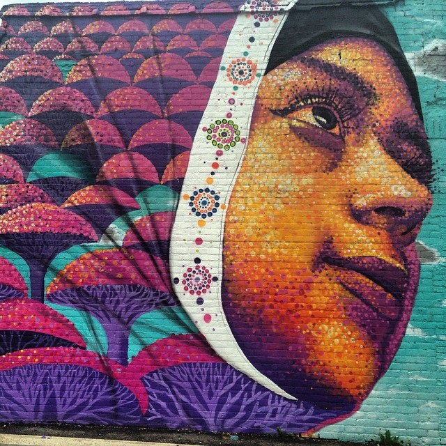 #love this #streetart in #hamtramack #detroit #graffiti close up #3