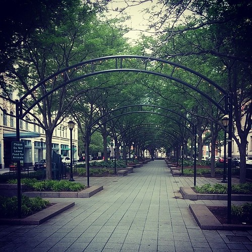 Piatt Park in downtown Cincinnati...