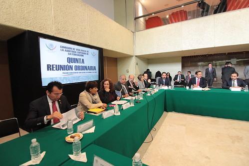El día 27 de septiembre del 2016 se llevó a cabo la quinta reunión ordinaria de la Comisión de Vigilancia de la Auditoria Superior de la Federación.