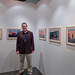 Jim Hart with his images at the SOUVENIRS exhibition, IEI, Lleida (May 2011) by Alexis Gerard - Just one toe back in for now