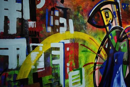 taller de pintura sobre tela