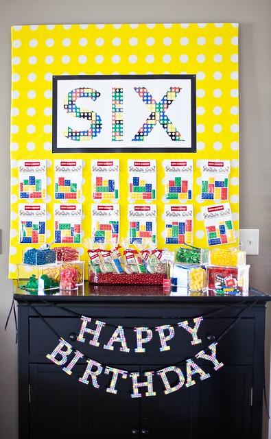 Lego Birthday Party Balloon Decorations
