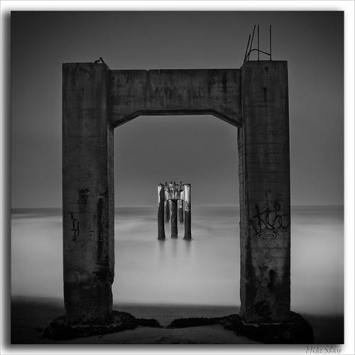 ocean california longexposure sea bw cliff santacruz history beach water architecture sunrise canon pier historic davenport ndfilter 2470mmf28l 10stopndfilter mshaw 5dmark2 canoneos5dmarkll bigstopper