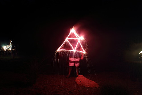 Light painting - Triforce