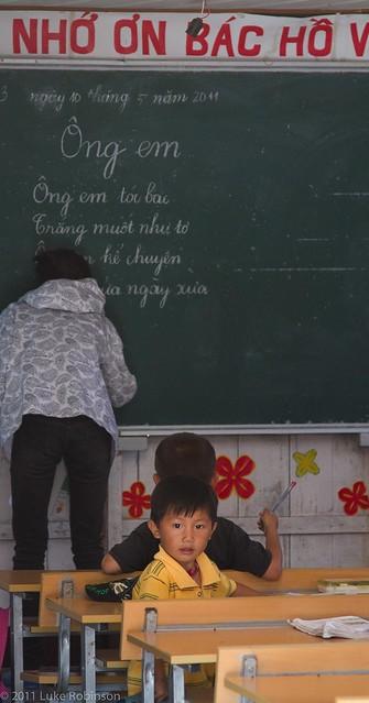 School in Vong Vieng floating fishing village, Ha Long Bay