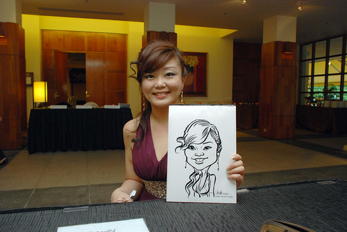 caricature live sketching for Rio Tinto Dinner & Dance - 1