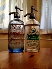 New antique bottles for our seltzer.