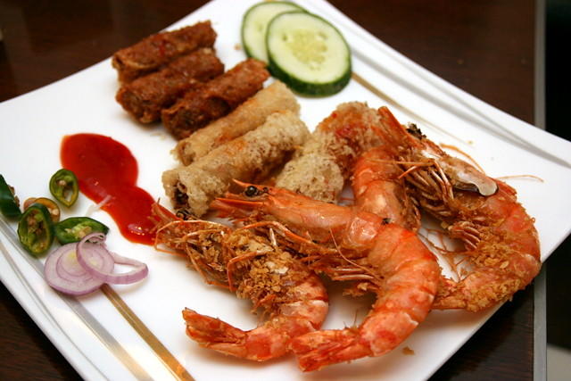 Deep-fried treats - cereal prawn, cha gio, ngoh hiang