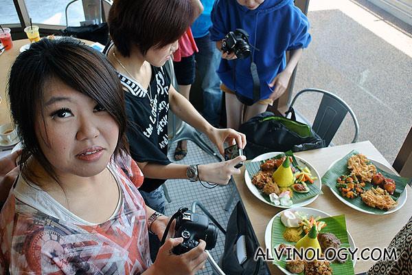 Taking photos of the Nasi Kuning