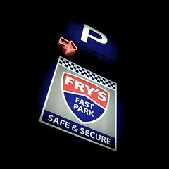 P => fry's fast park safe & secure