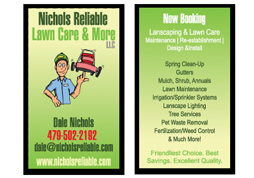 Nichols reliable lawn care and more business cards flickr photo