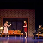 Seth Fisher (Max Garret), Keira Naughton (Suzanna Slater), Wendy Hoopes (Becky Shaw), and Eli James (Andrew Porter) in the Huntington Theatre Company's production of BECKY SHAW playing at the BU Theatre. Part of the 2009-2010 Season Photo: T. Charles Erickson