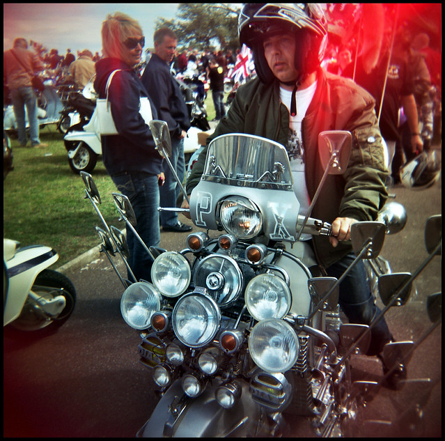 scooter rally, Ryde, IoW