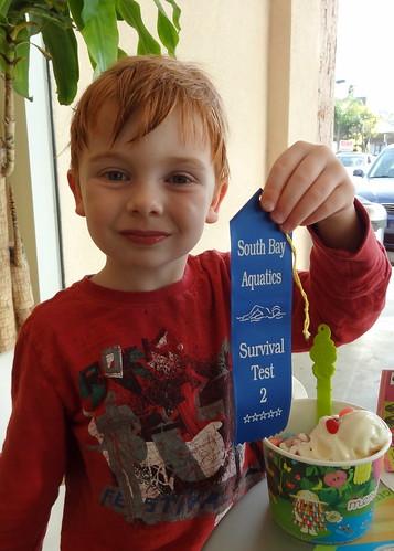 Henry Passed His Swim-Roll-Swim Test