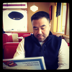 al, reading the menu