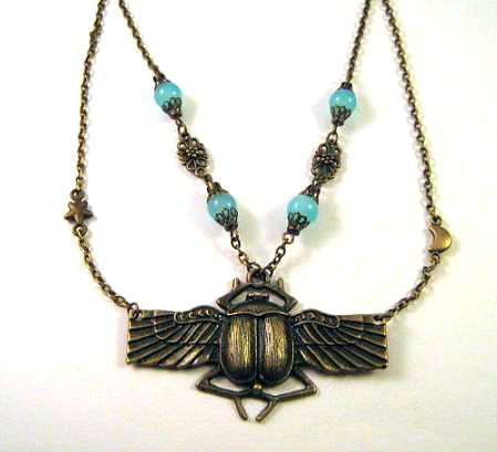 egyptian scarab necklace - photo #12