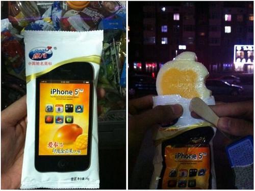 Sebuah Perusahaan Ice Cream Taiwan Membuat Ice Cream Berbentuk iPhone 5