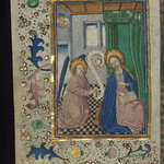 Illuminated Manuscript, Book of Hours in Dutch, Annunciation, Walters Manuscript W.918, fol. 13v