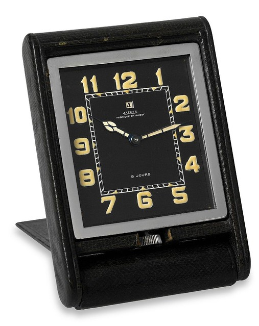 Jaeger Desk Clock with Power Reserve (ADOS Baby) 1935