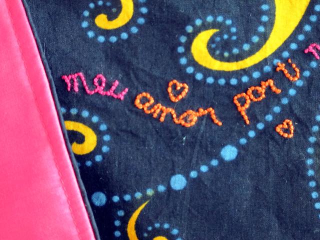 """""""meu amor por ti"""" baby blanket"""