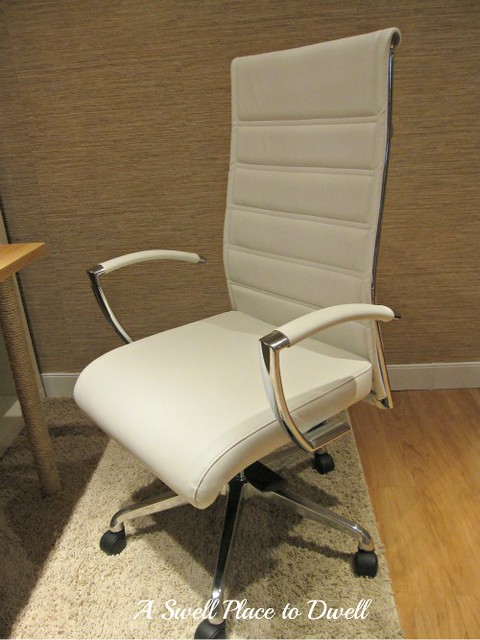 White Leather Office Chair 2