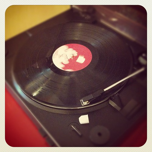 Playing records.