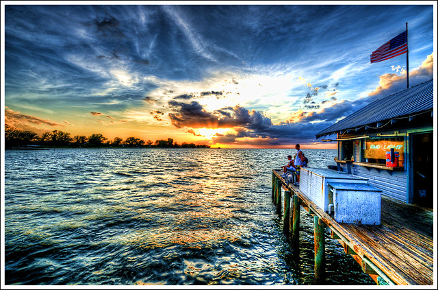 Ami pier sunset flickr photo sharing for Anna maria island fishing pier