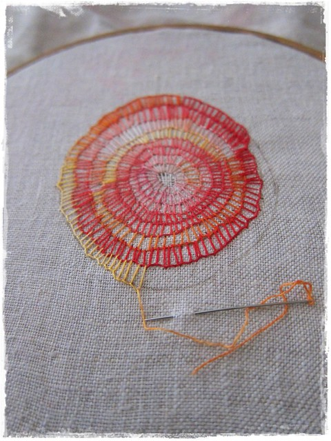 Quot mantra embroidery in progress flickr photo sharing