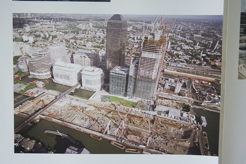 Canary Wharf under construction