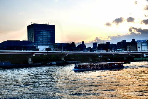 Sumida river and Tokyo sky