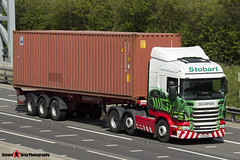Scania R440 6x2 Tractor with 3 Axle Container Trailer - PJ13 GAX - Margaret - Eddie Stobart - M1 J10 Luton - Steven Gray - IMG_7643