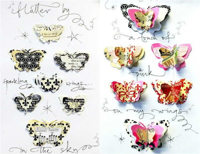 Betty Soldi calligraphy workshop paper cut butterflies