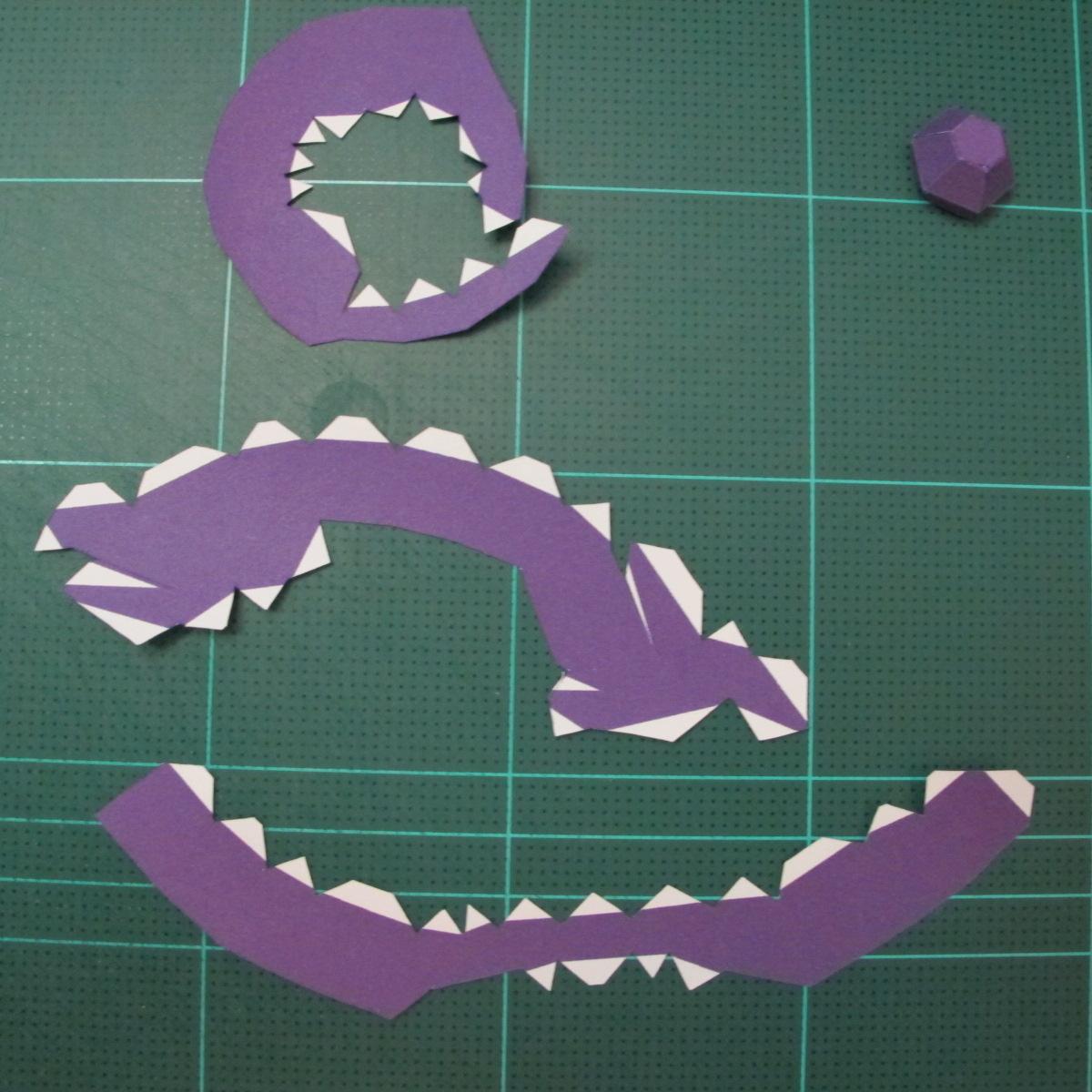 วิธีทำโมเดลกระดาษตุ้กตา คุกกี้รสราชินีสเก็ตลีลา จากเกมส์คุกกี้รัน (LINE Cookie Run Skating Queen Cookie Papercraft Model) 004