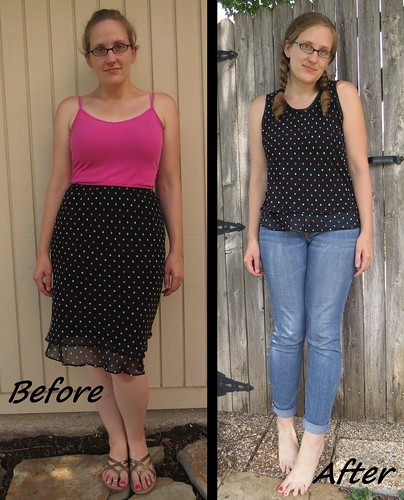 Seeing Spots Sleeveless Top - Before & After